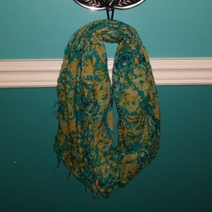 Accessories - Teal floral infinity scarf